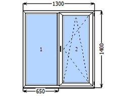 Двухстворчатое окно Veka Softline-70 мм